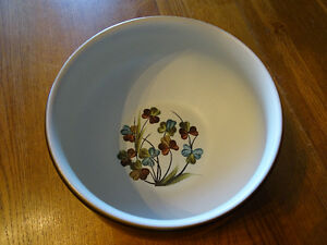 "DENBY ""SHAMROCK"" STONEWARE (ENGLAND) OPEN VEGETABLE BOWL"