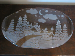 Large Mikasa Carmen Walther-Glass Canape Hors D'oevre Appetizer Kitchener / Waterloo Kitchener Area image 1