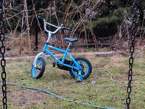 """Two 12"""" Bikes with training wheels for kids 3-5 years"""