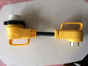 Camco 90 Degree 50 Amp Locking Female to 30 Amp Standard Male