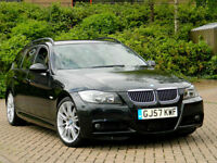 2007 57 BMW 3 SERIES 3.0 330d M Sport Touring 5dr WITH FULL LEATHER+FSH+AUTO