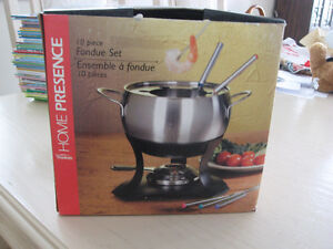 Fondue Set - 10 piece with Gelled Fuel