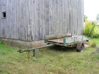 Trailer frame and axle