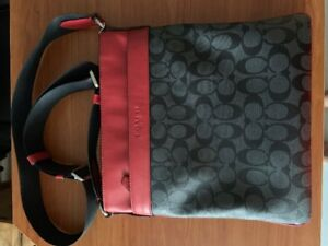 Selling Red And Black Coach Bag