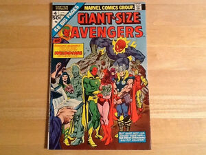 Giant Size Avengers 4 comic Wedding Of Vision And Scarlett Witch
