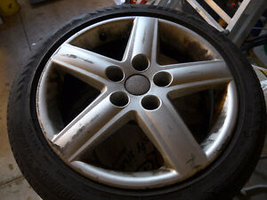 "2002-2005 17"" audi rims with winter tires"
