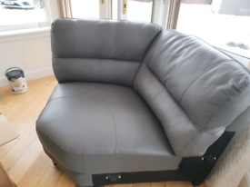 Corner part of brand new real leather sofa