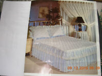 White eyelet single bedspread,curtains,skirt,non smoking Watch|S