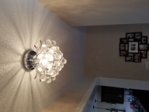 Gorgeous Crystal Ceiling Lights 3 pce  PRICE SLASHED DRASTICALLY