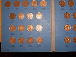 set of small cents 1920 to 1972 in Whitman folder
