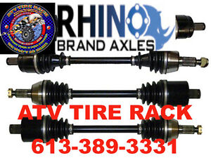 Polaris 850 XP/550 XP RHINO AXLES HD $259.00 ATV TIRE RACK Cornwall Ontario image 1