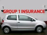 GROUP 1 INSURANCE 2010/60 VW FOX 1.2 55 CHEAPEST ONE IN SCOTLAND