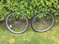 "26"" set of alloy wheels with very good tyres"