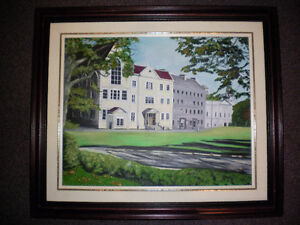 framed original oil painting of st bon`s