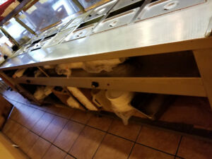 Steam Table 7 well with pans and lids for sale
