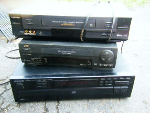 Kenwood 5 CD player, two vcrs