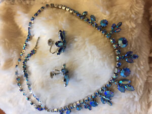 Sherman necklace and earrings set. Signed