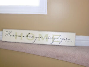 Home decor , 28 inch Home is where the story begins wooden sign