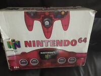 Red n64 console
