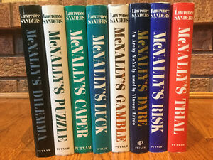"""Lawrence Sanders """"McNally's"""" Hardcover Books"""