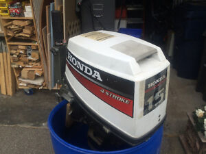 Honda Four Stroke 15 Hp Outboard Motor For Sale!