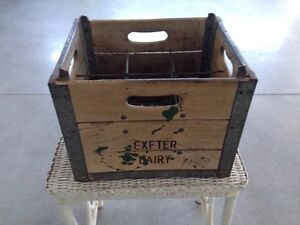 "Vintage Crate ""Exeter Dairy"" London Ontario image 4"