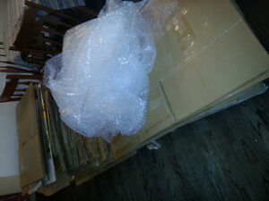 moving boxes and bubble wrap