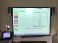 Interactive smart white board with projector