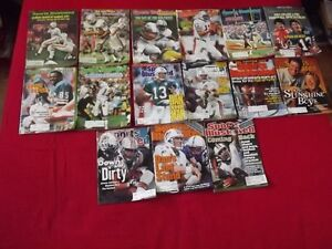 MIAMI DOLPHINS NFL PACKAGE DEAL:15 SPORTS ILLUST MAGAZINES