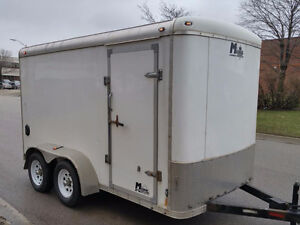 TODAY ONLY 6' x 12' x 7' Tandem Enclosed Cargo Trailer with Ramp