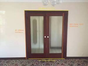 Real Hardwood Double Door Excellent Condition Perth Perth City Area Preview