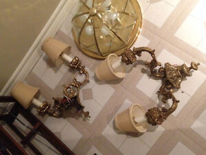 Solid Brass Light Sconces - 2 available - New Price! Sarnia Sarnia Area image 2