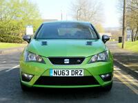 2013 63 Seat Ibiza 1.2 TSI FR 5dr ONLY 23K MILES+SATNAV+FSH+MET GREEN
