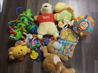 baby toys both teething and musical.