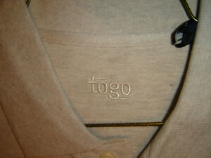 """BRAND NEW MENS LARGE CREAMY COLOUR """"TOGO"""" T SHIRT NEVER WORN London Ontario image 1"""