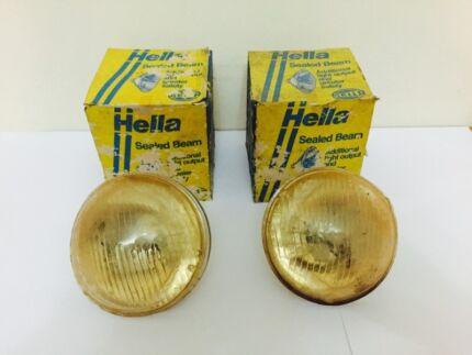 RARE Vintage BRAND NEW OLD STOCK HELLA 3 Pin Headlights  Carlton Kogarah Area Preview