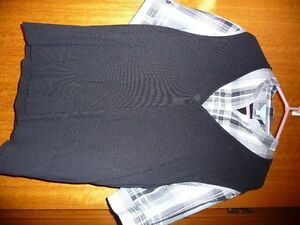 BLOUSE WITH ATTACHED SWEATER VEST