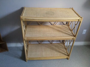 Solid bamboo three tier shelving unit bookcase London Ontario image 3