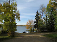 One Lakeside and  Near-lakeside lots for rent Baptiste Lake.