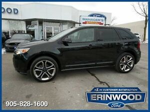 2013 Ford Edge Sport3.7L V6/LTHR/PAN ROOF/REM START/BLIS