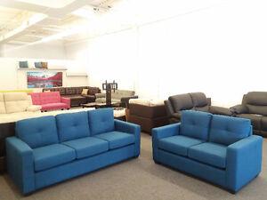Sofa + love seat- linen fabric
