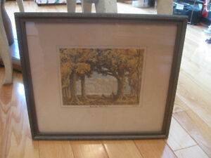 CHARMING OLD VINTAGE PROFESSIONALLY FRAMED HOMER WATSON ART
