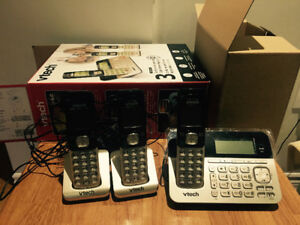 vtech CS6858 3 cordless handsets with digital answering system