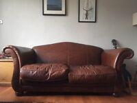 Laura Ashley penhurst leather sofa