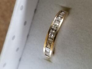 Bague semi éternité  14k diamant  50 pts
