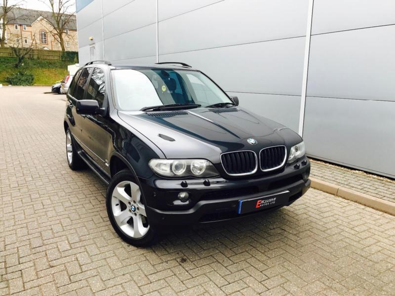 2005 55 reg bmw x5 auto black black leather 19. Black Bedroom Furniture Sets. Home Design Ideas