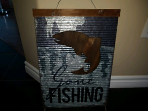PERFECT OUTDOOR SOLID METAL GONA FISHING SIGN