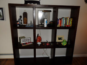 "Book Shelf or Display cabinet 5 feet long 19"" wide approx 6'tall"
