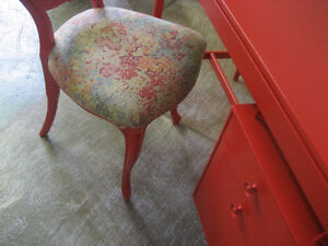 Mid-Century Red Desk North Shore Greater Vancouver Area image 3