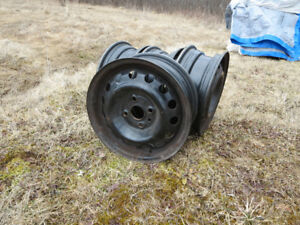 tire rims and wood stove for sale